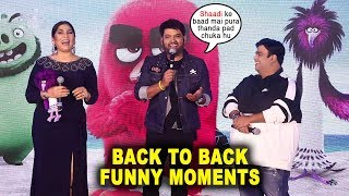 Kapil Sharma & Kiku Sharda's Back To Back FUNNY MOMENTS At Angry Birds 2 Hindi Trailer Launch