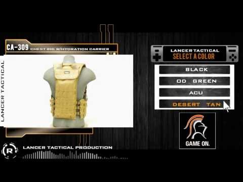 Lancer Tactical CA-309 Chest Rig with Hydration Carrier