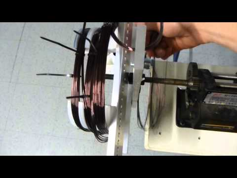 Induction Motor Coil Winding Setup Youtube