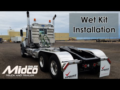 custom wet kit installation on mack truck youtube Truck PTO Hydraulic Pumps