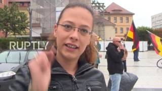 Germany: Right-wing protesters march against refugees in Bautzen