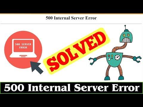 [FIXED] Error 500 Internal Server Error Issue (100% Working)