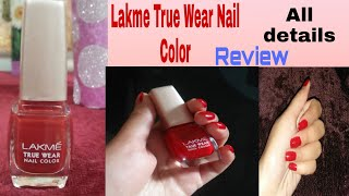 Affordable Best Nail Color LAKME True Wear Nail Color Review Shade 404