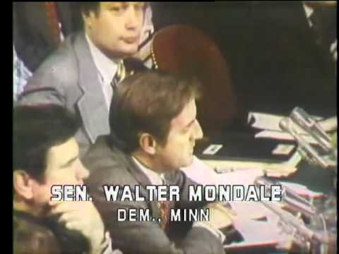 Mondale Humphrey vs CIA Postal Spying on Americans' mail for 20 years-Church Committee (1975)