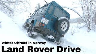 Winter offroad in Norway 2018 - Part 1:2 - Defender 110 + Range Rover Classic + Discovery 4