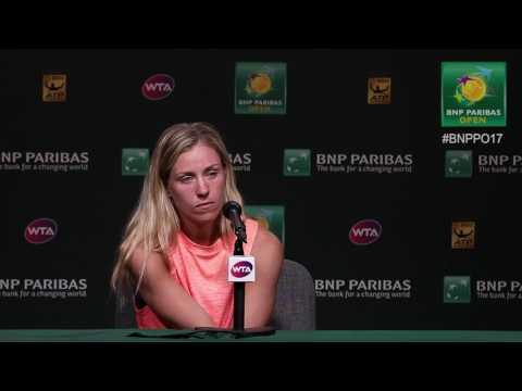 BNP Paribas Open 2017: Angelique Kerber 3R Press Conference