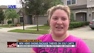 Deputies searching for golf cart porch pirates in Hillsborough County