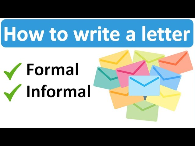 How To Write A Letter Formal And Informal Youtube