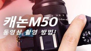캐논M50 사용법! 유튜브 동영상 촬영을 위한 밝…
