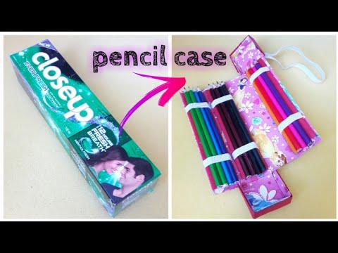 عمل مقلمة رائعة لحفظ الألوان بطريقة بسيطة Diy School Supplies Diy Pencil Case Youtube