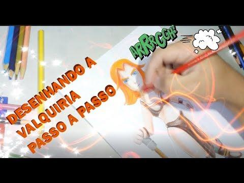 DESENHANDO A VALQUIRIA PASSO A PASSO - CLASH OF CLANS - CLASH ROYALE -  RPG DRAW