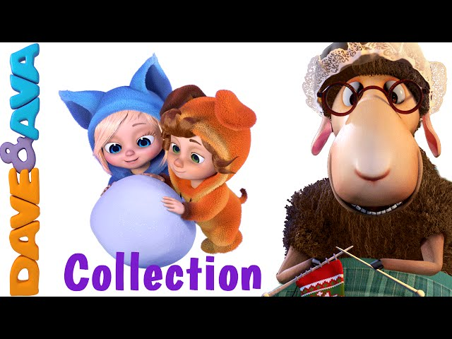 Baa Baa Black Sheep | Christmas Nursery Rhymes Collection | Baa Baa Black Sheep from Dave and Ava