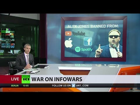 Infowars banned by Apple, Facebook, YouTube and Spotify on the same day