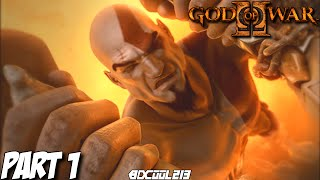 GOD OF WAR 2 GAMEPLAY WALKTHROUGH PART 1 INTRO & COLOSSUS OF RHODES BOSS FIGHT - PS3 LET
