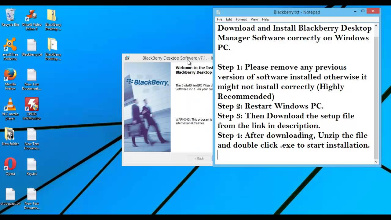 BlackBerry Desktop Manager Download/Install Software| Windows| Latest Version| Howto