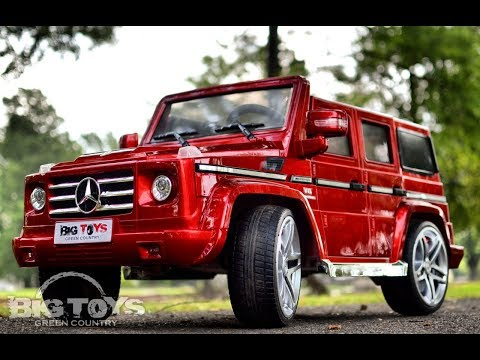 Kids power wheel mercedes g55 amg with leather seat and for Mercedes benz g55 power wheels