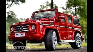 Toddler Ride On Mercedes G55 AMG with leather seat & rubber tires Big Toys Green Country