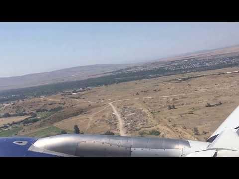 Airbus A319 Azerbaijan Airlines   Tbilisi (TBS) - Baku (GYD)   Landing over the Caspian Sea! (HD)