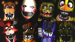 �������� ���� Five Nights at Freddy's: Warehouse ALL JUMPSCARES ������