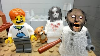 GRANNY LEGO THE HORROR GAME ANIMATION  Scary Granny and Slenderina