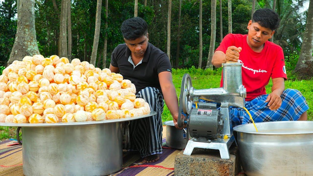 150kg CITRUS JUICE   150kg Citrus Orange Fruits Cutting   Making Fruits Juice In Village