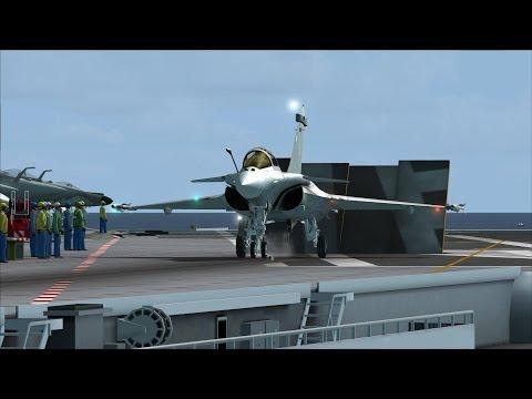 FSX Rafale M Carrier Ops near Dubai [AMAZING REALISM+EXTREME GRAPHICS]