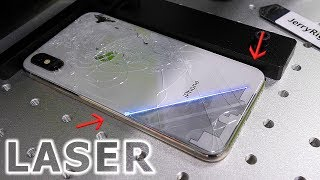 Easiest iPhone Glass Fix - WITH LASERS (Not clickbait)