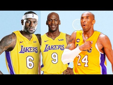 LeBron James, Michael Jordan, & Kobe Bryant on the same NBA Team (Los Angeles Lakers)
