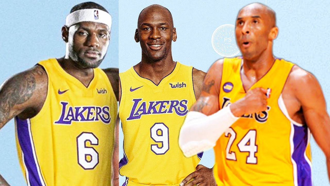 sale retailer 23cd1 f2177 LeBron James, Michael Jordan, & Kobe Bryant on the same NBA Team (Los  Angeles Lakers)