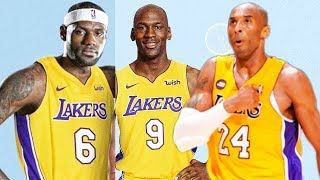 LeBron James Michael Jordan  Kobe Bryant on the same NBA Team Los Angeles Lakers