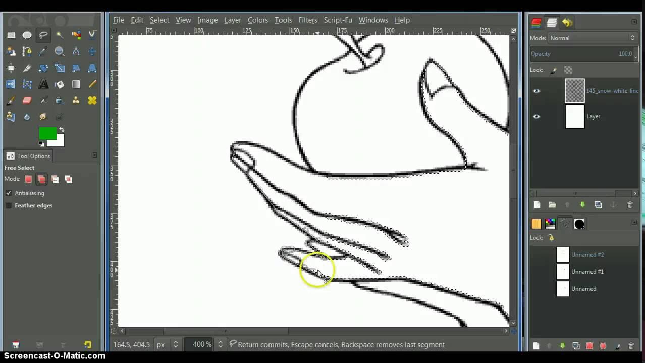 Line Art Using Gimp : Making selections of line art using gimp youtube