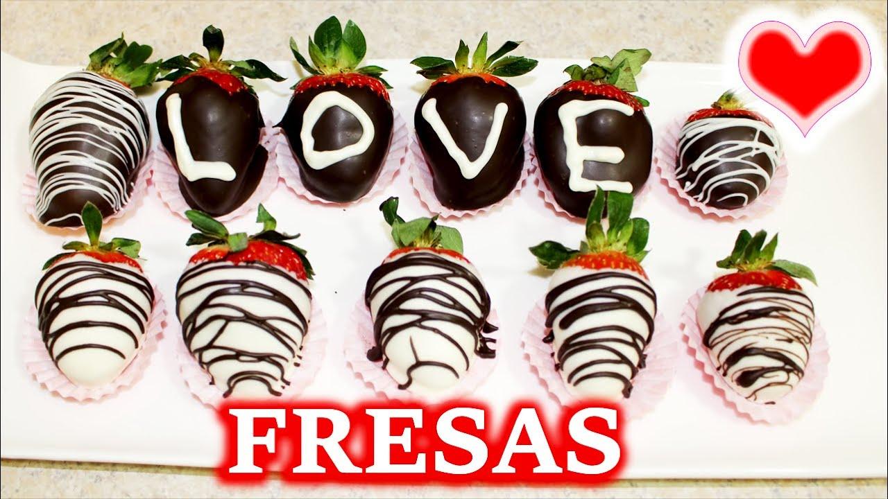 Como Hacer Fresas Cubiertas Con Chocolate San Valentin Bessy Dressy Youtube
