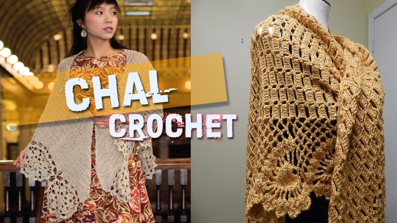 Chal Manta - Tejidos a Crochet y Dos Agujas - YouTube