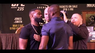 Tyron Woodley, Kamaru Usman Get Into Heated War of Words at UFC 235 Presser