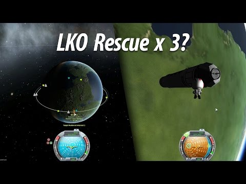 LKO Rescue Mission (Beginner Tutorial: Part 6) - Kerbal Space Program (KSP) 1.1 Stock Career