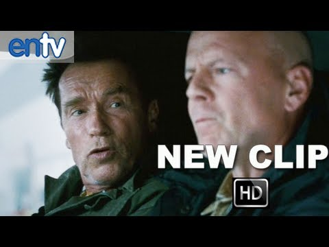 "The Expendables 2 ""Smart Car"" Official Clip [HD]: Arnold Schwarzenegger & Bruce Willis Cram In"