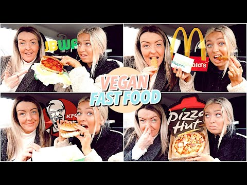 Trying VEGAN Fast Food!! McDonald's, Subway, KFC & Pizza Hut!
