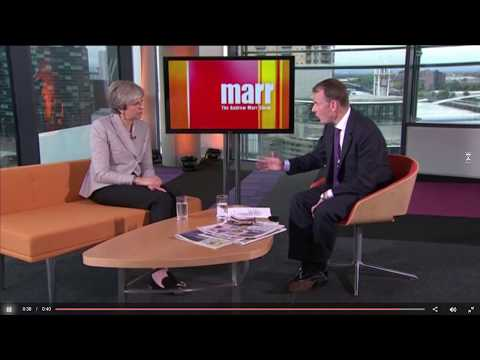 Theresa May Mocked By Marr Re Run on the Pound Comment 01 10 17