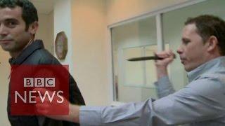 Israeli TV reporter stabbed demonstrating 'knife-proof' vest - BBC News thumbnail