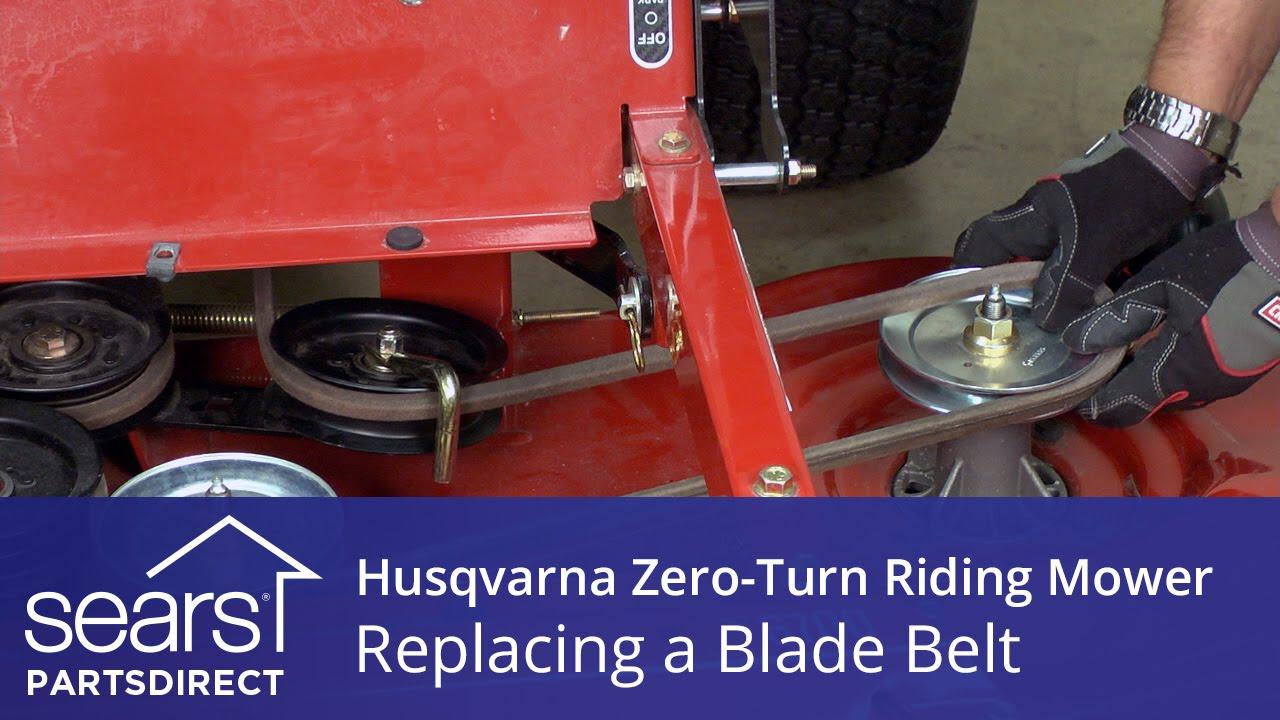 how to replace a husqvarna zero turn riding mower blade belt [ 1280 x 720 Pixel ]