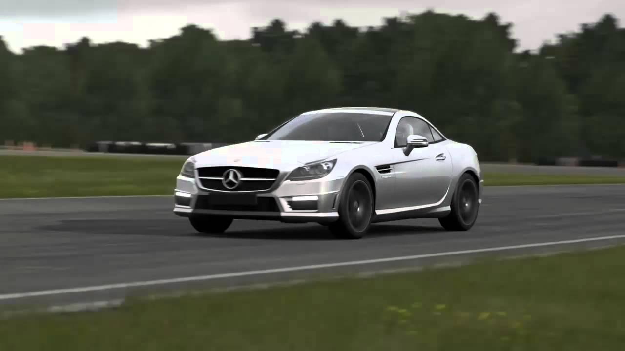 2012 mercedes-benz slk55 amg top gear track - youtube