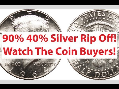 90% 40% Silver Half Dollar Rip Off - Don't Let A Dealer Do This!!