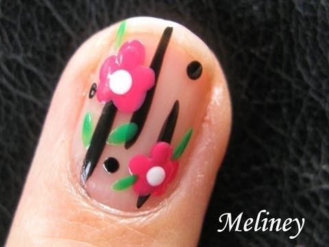Easy flower nails for beginners flower power nail art tutorial easy flower nails for beginners flower power nail art tutorial freehand design for short nails prinsesfo Images