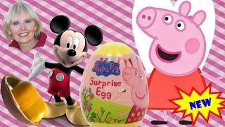 ♥♥  5 Surprise Eggs - Mickey Mouse, Super Mario Bros, Disney Princess, Kinder Fairy, Peppa Pig