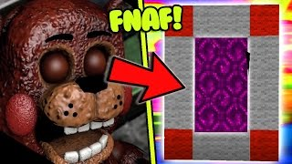 HOW TO MAKE A PORTAL TO THE FNAF RETURN TO THE SCENE DIMENSION - MINECRAFT FIVE NIGHTS AT FREDDY'S