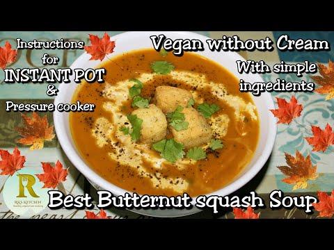 Best Vegan Butternut squash soup in Instant Pot| Instant pot vegetarian recipes| Weight loss soup