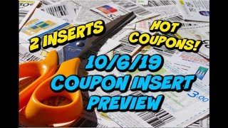 10/6/19 COUPON INSERT PREVIEW | 2 INSERTS | 🔥HIGH VALUE COUPONS!