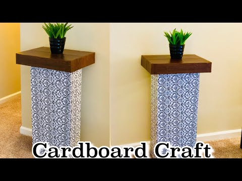 CARDBOARD CRAFTS EASY / BEST OUT OF WASTE  / CARDBOARD TABLE / DIY HOME DECOR / WASTE MATERIAL CRAFT