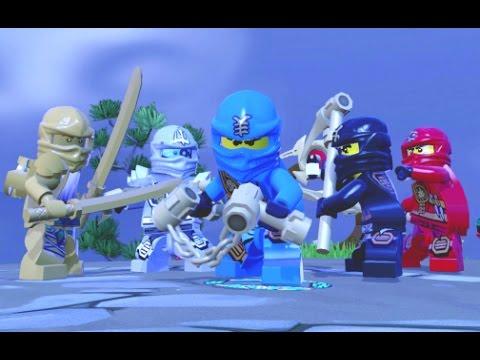 Lego Dimensions All 7 Ninjago Characters Free Roam Gameplay