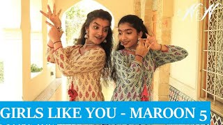 Maroon 5 - Girls Like You | Bharathanatyam Dance Choreography | Nidhi and Neha